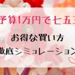予算1万円でのお得な買い方