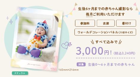 6か月までの赤ちゃん限定キャンペーン、ベビキャンの特典「ウォールデコレーションパネル(八切サイズ)」